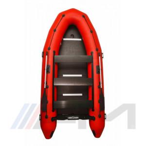 OMEGA - Надуваема моторна лодка с твърдо дъно и надуваем кил 385 K Verso PFA RT PT червена
