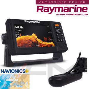 RAYMARINE Element 7HV GPS с 4 в 1 HyperVision 3D сонда и карта NAVionics+ / BG Menu