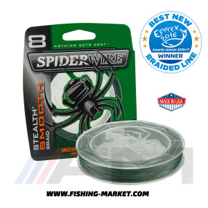 SPIDERWIRE Плетено влакно Stealth Smooth 8 Moss Green - 240 m. (0.40 mm.)
