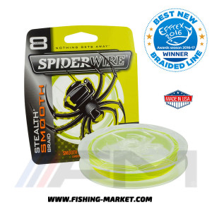 SPIDERWIRE Плетено влакно Stealth Smooth 8 Yellow - 240 m. (0.40 mm.)