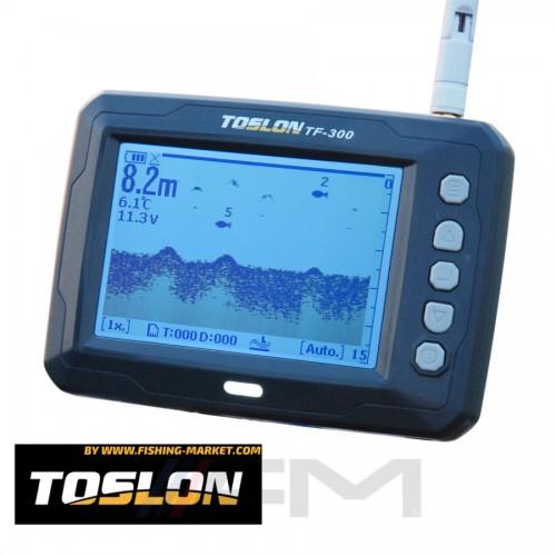 TOSLON Безжичен сонар за лодка за захранване TF300 - 180 m. 2.4 GHz