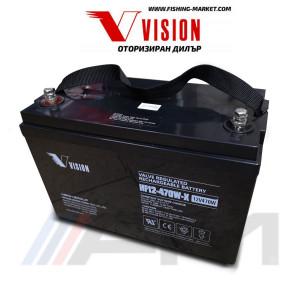 VISION Тягов акумулатор HF12-470W-X 100Ah 12V