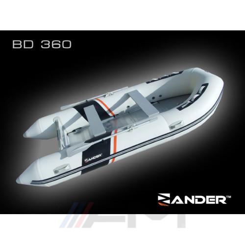 ZANDER - Надуваема моторна лодка с алуминиево дъно и надуваем кил BD360P