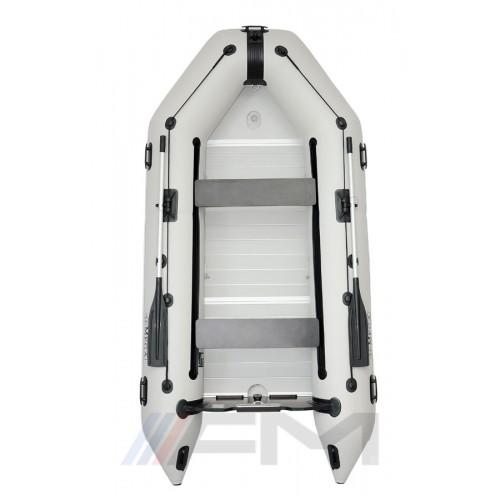 OMEGA - Надуваема моторна лодка с твърдо дъно и надуваем кил 300 K Evolution ALF RT PT светло сива