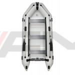 OMEGA - Надуваема моторна лодка с твърдо дъно и надуваем кил 360 K ALF RT PT - светло сива