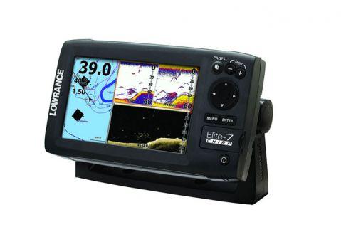 GPS с картограф lowrance Elite-7 CHIRP 83/200/455/800